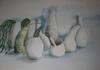 White pots and green stuff