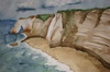 White cliffed coast line
