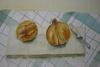 Onions on a chopping board